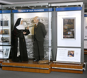 Displays bring Mayo's history to life.