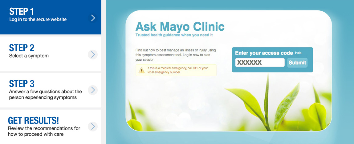 Symptom Triage Content | Triage Algorithms | Mayo Clinic GBS
