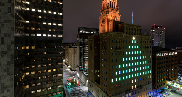 Special Lighting of Plummer Building