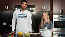 Karl Anthony Towns cooking